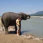 Mig og min langnæsede ven. Chitwan, Nepal.