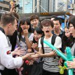 Street-magic i Sydkorea.