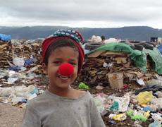 Dreng med rød næse